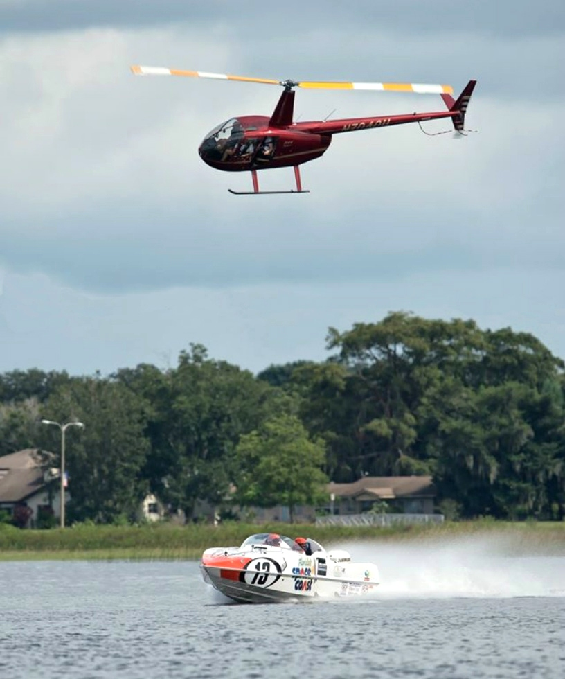 P1 SuperStock Powerboat Races for Greenlight TV Red Dog Helicopters