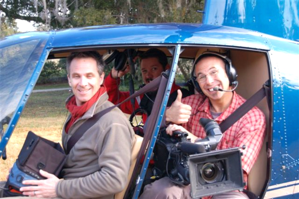 Filming The Aerial Shots | DIY Network TV Series Red Dog Helicopters
